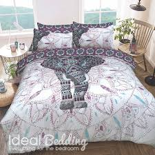 elephant mandala purple duvet set and pillowcase bedding set