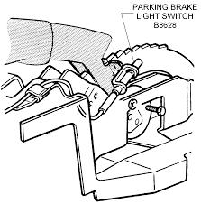 Parking brake light switch diagram view chicago corvette supply