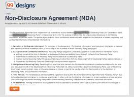 Nda Template For Startup The Non Disclosure Agreement What Am I Signing Designer Blog