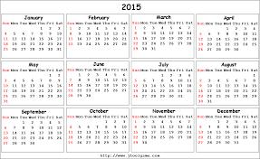 Calendar Starting On Monday 2015 Calendar Printable Calendar 2015