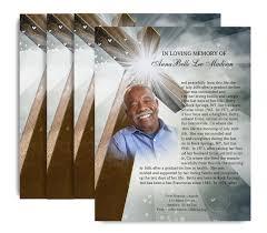 funeral flyer eternal no fold funeral flyer design print funeral program site