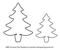 Christmas Tree Stencil Printable Free Printable Christmas Tree Template Christmas Printables