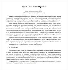 Template For A Speech 8 Campaign Speech Examples Templates Pdf Word