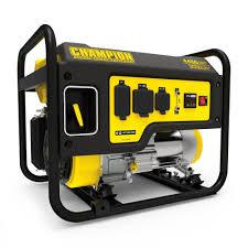 champion power equipment 3550 watt gasoline powered recoil start portable generator with champion 224cc engine