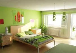 Small Green Bedroom Cheerful Kids Room Interior Design With Green And White Color