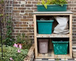 recycling bin storage outdoor garden cupboard