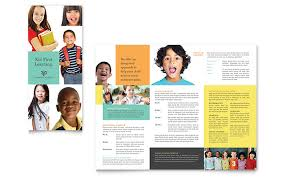 tri fold school brochure template charter school tri fold brochure template design
