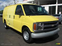 1999 Yellow Chevrolet Express 3500 Commercial Van #55757162 Photo ...