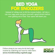 bed yoga monday morning shakira ft