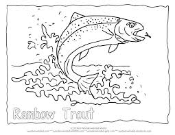 Fish Coloring Pages Kids Printable Rainbow Fish Coloring Page Free