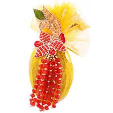Decorative Nariyal Designs Buy Decorative Designer Shagun Nariyal Coconut For Marriage