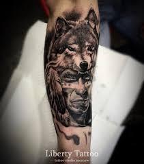 значение тату волк фото и эскизы татуировки волк салона либерти