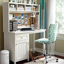 space saving office ideas. Beadboard Space-Saving Desk + Hutch #pbteen Space Saving Office Ideas