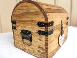wooden treasure chest ready to ship 3 5 bus days wedding card box rustic wood treasure chest with card slot and lock key set all inclusive