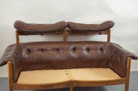 Vintage Tufted Leather Sofa By Arne Norell For Coja 9 Antique Leather Sofa O66