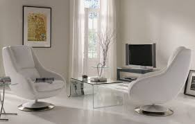 modern swivel chairs for living room. full size of living room:brilliant room idea implemented with soft white leather swivel modern chairs for i