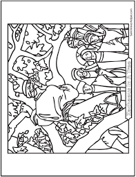 578 x 663 file type: Jesus And Zacheus Coloring Page Jesus Coloring Pages