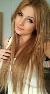 Super Sch Ne Lange Glatte Haare Orange Farbe