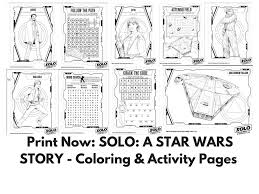 activity pages to print. Simple Print Print Now SOLO A STAR WARS STORY  Coloring U0026 Activity Pages HanSolo  Saving You Dinero On To