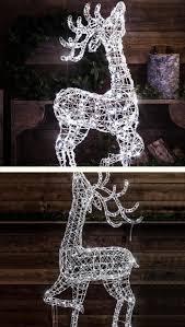 Reindeer Christmas Lights Outdoor Outdoor Wicker Reindeer With Led Lights Outdoor Christmas