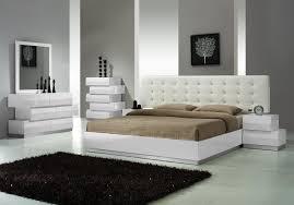 Milan White Lacquer Platform Bedroom Set