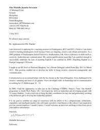 Cover Letter For English Teacher Overseas Adriangatton Com