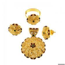 22ct indian gold pendant set 1