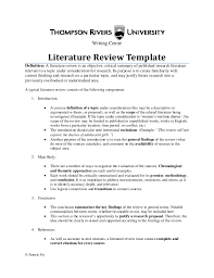 example of literature review outline elefanti example of literature review for research