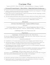 Cosmetologist Resume Template Inspiration Cosmetology Resume Samples Examples For Of Resumes Sample Templates