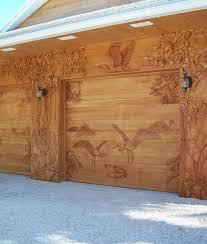 wood garage doorsCarved Wood Garage Door Panels  John Robinson House Decor