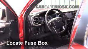 interior fuse box location 2016 2017 toyota tacoma 2016 toyota toyota tacoma fuse box diagram 2008 locate interior fuse box and remove cover