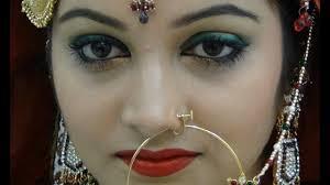 indian stani green bridal eye enement bridals makeup tutorial