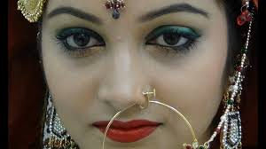 indian stani green bridal eye enement bridals makeup tutorial
