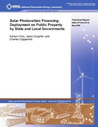 Solar Photovoltaic Financing: Deployment on Public Property by State and  Local Governments - UNT Digital Library