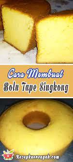 Karena selain dijadikan sebagai camilan keluarga, kue apem juga sering disajikan. Cara Membuat Bolu Tape Singkong Enak