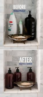 Shower Organization Before and After