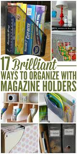 Magazine Holder Uses 100BrilliantWaystoOrganizeWithMagazineHolderspng 31