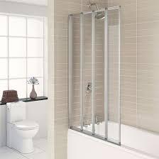 Aqualux Silver Folding Bath Screen