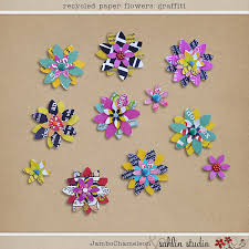 Paper Flower Designs Recycled Paper Flowers Graffiti