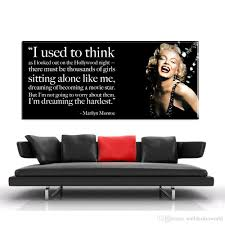 Marilyn Monroe Dream Quotes Best of 24 Marilyn Monroe Quote Hd Prints Poster Picture Canvas Painting
