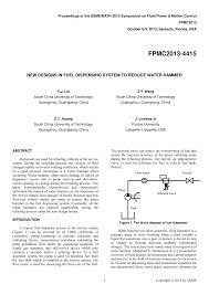 Fuel Dispensing System Design Pdf New Designs In Fuel Dispensing System To Reduce Water