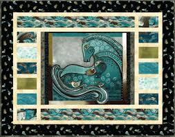 Embracing Horses Teal Quilt Wallhanging Kit Laurel Burch Fabric ... & Embracing Horses Teal Quilt Wallhanging Kit Laurel Burch Fabric Pattern |  eBay Adamdwight.com