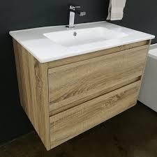 portia white ceramic vanity benchtop in showroom