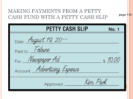 Petty Cash Slip Lesson 5 4 Petty Cash December 4 O Bjectives Define Accounting