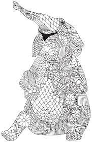 Free Elephant Mandala Coloring Pages Tribal Elephant Mandalas