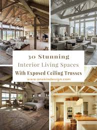 rafters living lighting. Interior Living Spaces-Exposed Ceiling Trusses-00-1 Kindesign Rafters Lighting