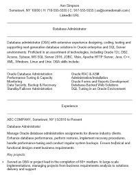 22 Free Database Administrator Resume Samples Sample Resumes