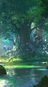 Anime Forest iPhone Wallpapers - Top ...