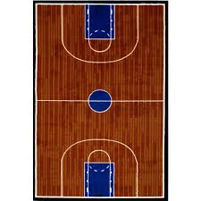 la rug fun time basketball court multi colored 3 ft x 5 ft area rug gi 10 3958 the home depot