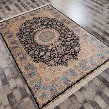 yilong 6 x9 dark blue silk carpet classic handmade oriental persian home area rugs